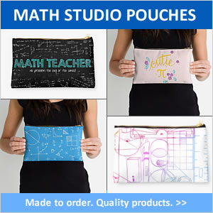 Math Studio Pouches. Aritist designed. Made to order.
